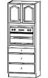 Single Oven Cabinet