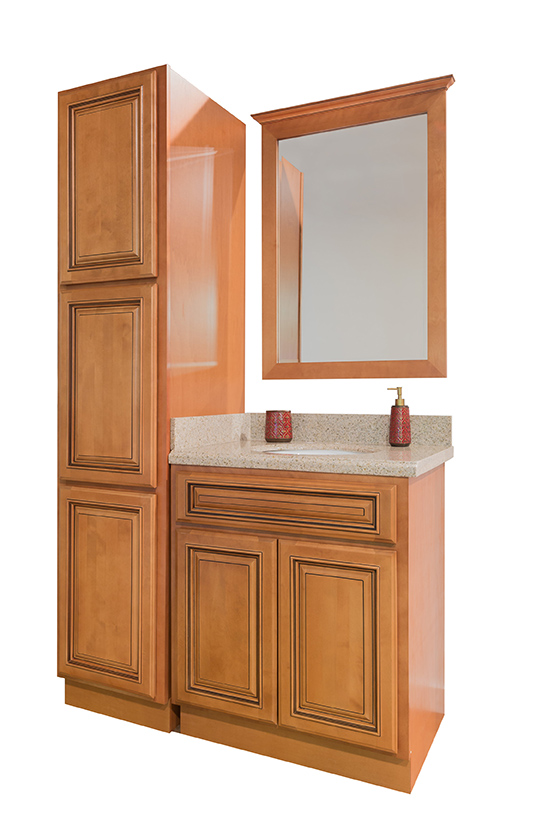 Maple Glaze Bathroom Cabinets Bathroom Cabinet Sets Corona Summit Cabinets
