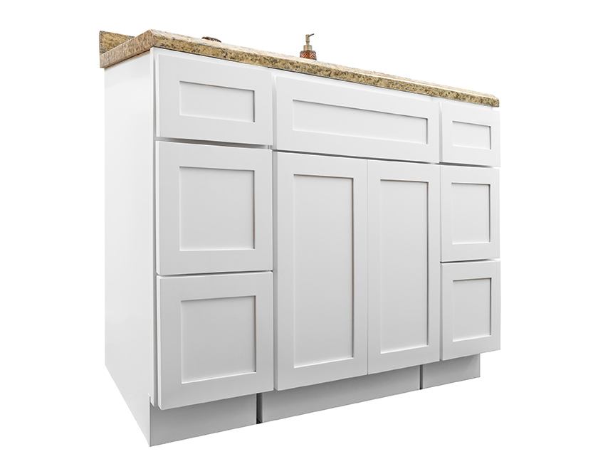 Remodel Your Bathroom With Luxurious Shaker White Bathroom Cabinets Summit Cabinets
