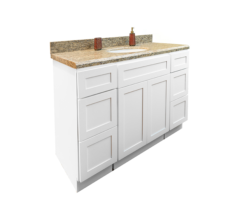 Kitchen Cabinets Santa Ana: Remodel Your Bathroom With Luxurious Shaker White Bathroom