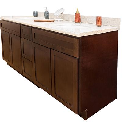 Shaker Espresso Bathroom Cabinets