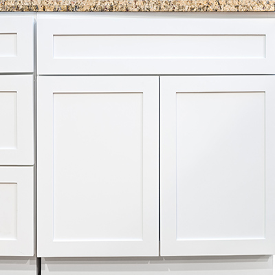 Shaker White Bathroom Cabinets