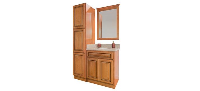 Maple Glaze Bathroom Cabinets Bathroom Cabinet Sets Corona Summit Cabinets