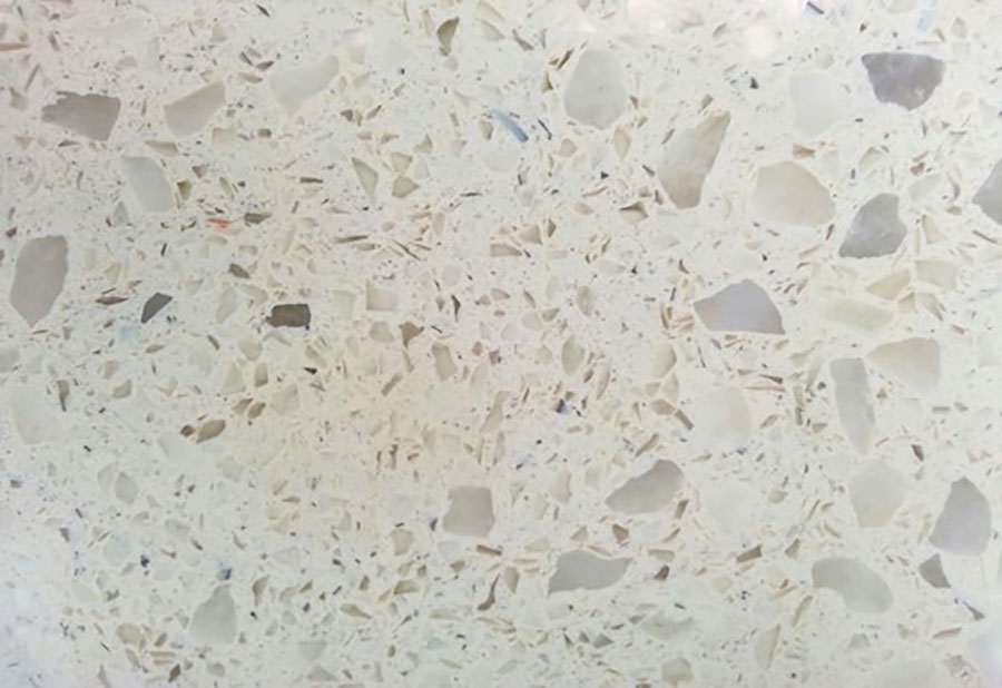 almond dot granite kitchen countertop